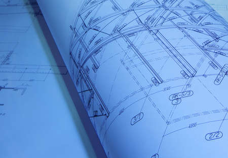 house blueprint: architectural drawings