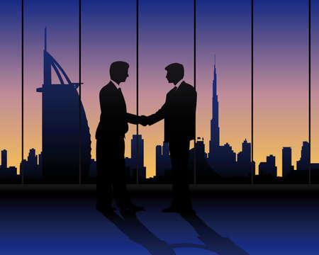 クライアント: ドバイでのビジネス会議