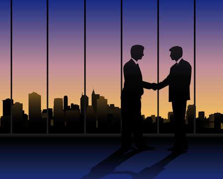 collegial: business meeting