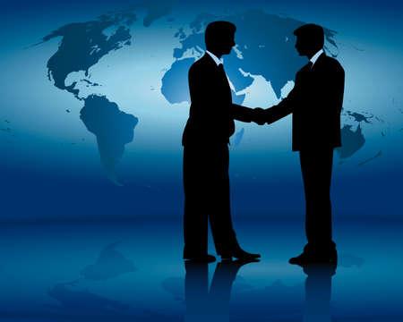 akkoord: internationale zakelijke bijeenkomst