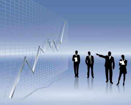 sales trend Stock Vector - 4792544