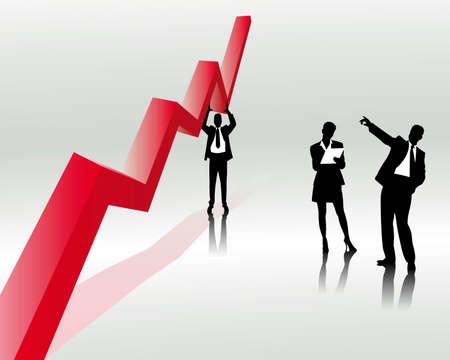 sales trend Stock Illustratie