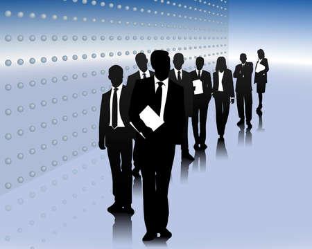 economies: Business �quipe Illustration
