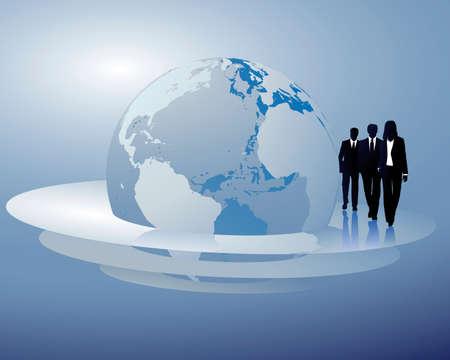 negocios internacionales: negocios internacionales Vectores