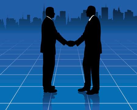 agglomeration: shaking hands