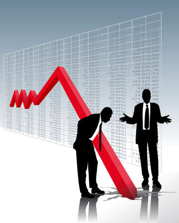 stock illustration: stock market crash