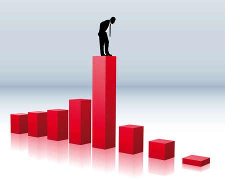 derrumbe: colapso del volumen de negocios