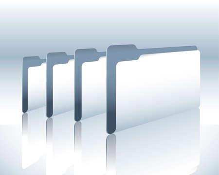many folder Stock Vector - 4823661