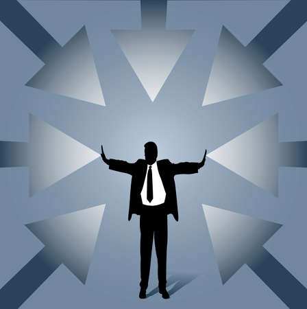 revised: revised business man Illustration
