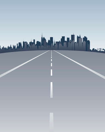 skylines: street to manhattan