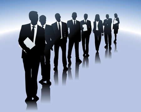 クライアント: ビジネス人々  イラスト・ベクター素材