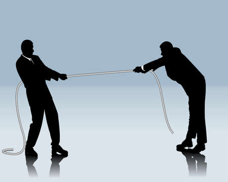 office force: competitive battle between two business people