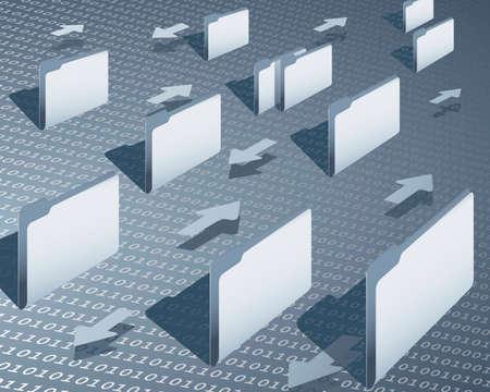data synchronization: data transfer Illustration