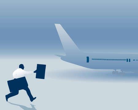 man miste zijn vlucht
