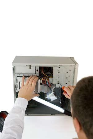 computer expert Stock Photo - 4923920