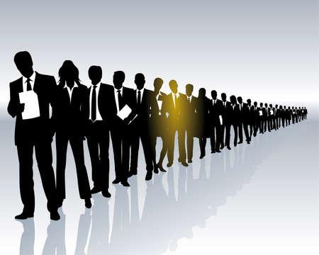 career - one among many Stock Vector - 4980966