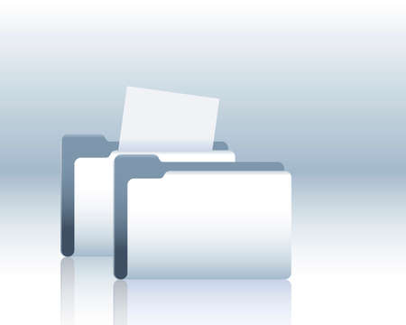 filing tray: folder with documents