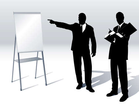 business people with a flipchart Vector