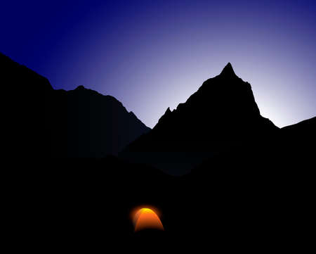 camp at mount everest Vector