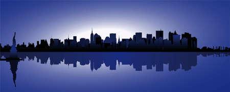 skyline of new york Vector