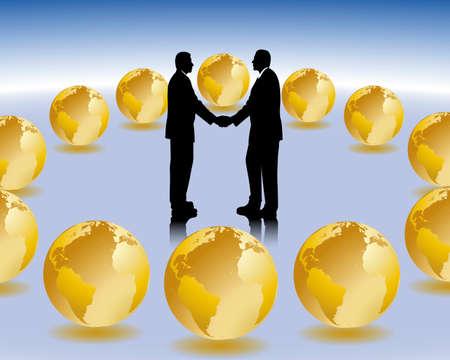 manos estrechadas: reuni�n de negocios internacionales