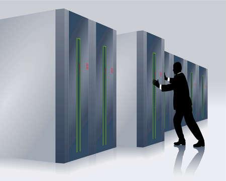 computer problems: centro de computaci�n y t�cnicos en TI Vectores