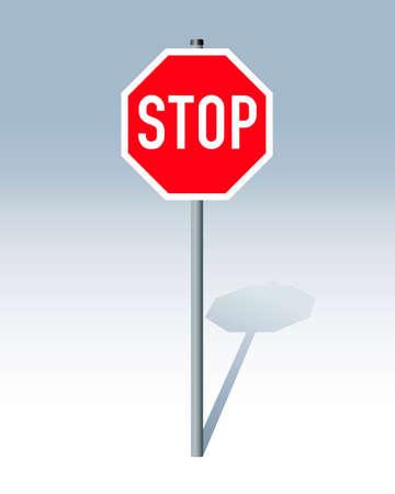 sign plate: Stop sign Illustration
