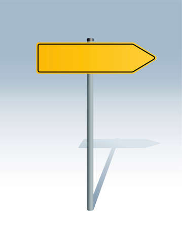 thoroughfare: directional sign blank Illustration