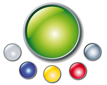 colorful buttons Vector