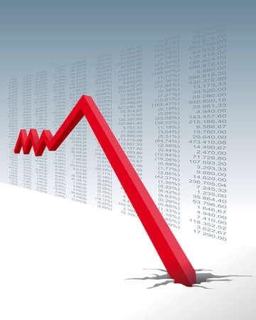 crash in the stock market Vector