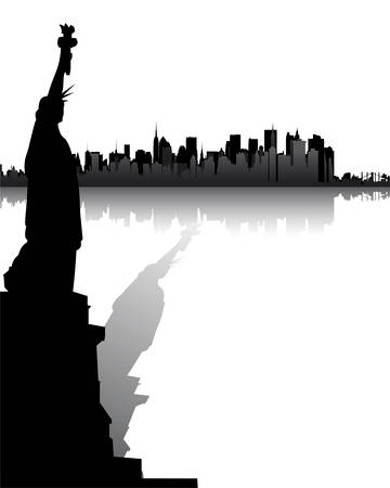 Skyline of New York Stock Vector - 5004089