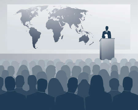 congreso internacional Ilustración de vector