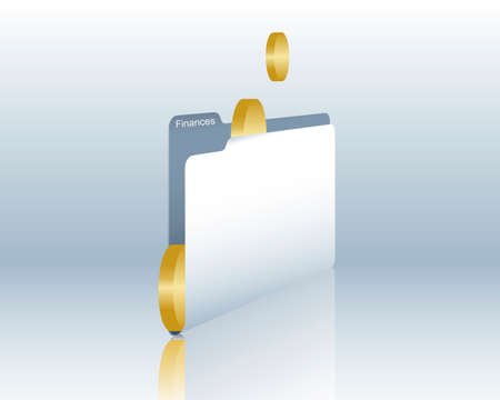 Financial documents Vector