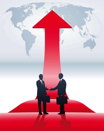 alignment: conclusi�n de los negocios internacionales Vectores
