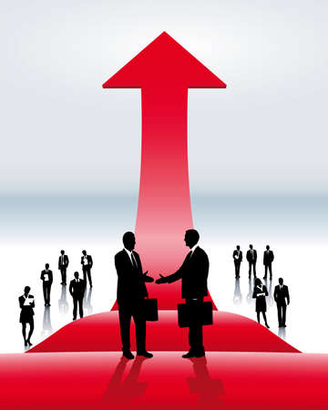 kunden: International Business Abschluss Illustration