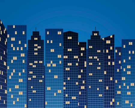 メトロポリス: 夜高層ビル