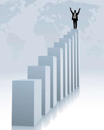 upward trend and success