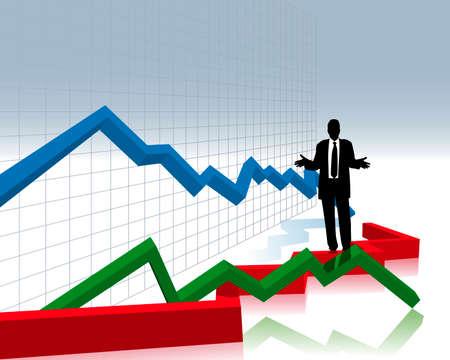 Financiële crash  Stockfoto - 5004107