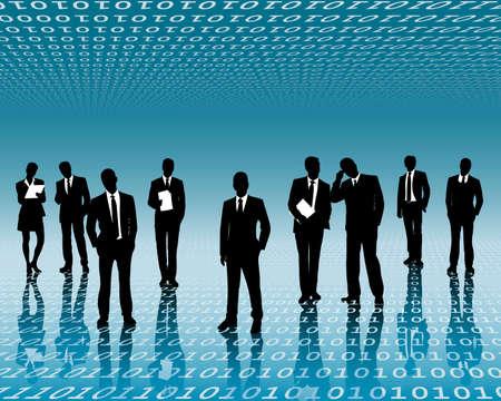 numérique monde des affaires et de soutien