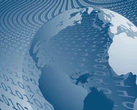 le monde de transfert de données Vecteurs