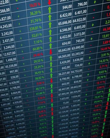 Aandelenkoersen Stock Illustratie
