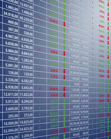 equidad: Los precios de las acciones Vectores