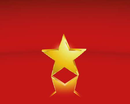 golden star Иллюстрация