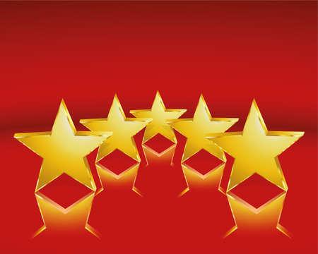 golden stars Иллюстрация