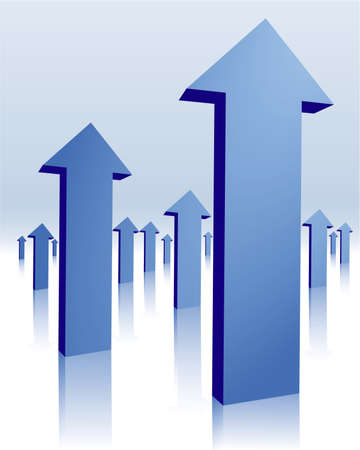 blue arrows Stock Vector - 5330409