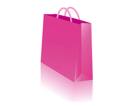 red retail: shopping bags