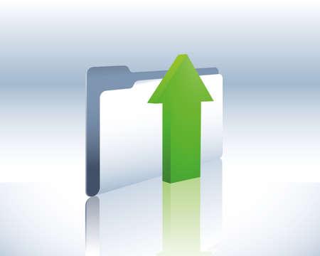 upload folder Stock Vector - 5432944