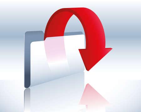 download folder Stock Vector - 5432945