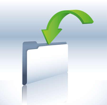 carpeta de copia de seguridad Ilustración de vector