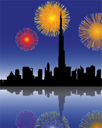 dubai: fuochi d'artificio in Dubai